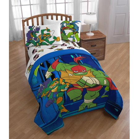 Teenage Mutant Ninja Turtles Rise Night Run Twin Bed Set ()