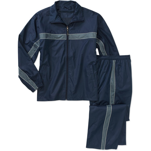 Men's Stripe Pieced Wind Jacket and Pant Set