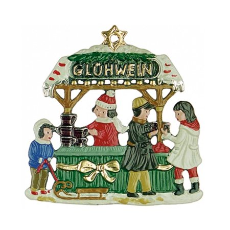 Gluehwein Christmas Wine Stand German Pewter Ornament Decoration Made in Germany ()