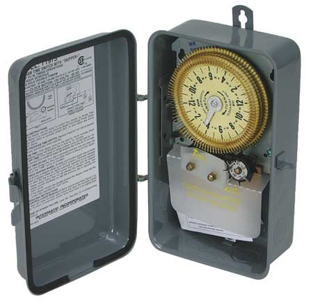 Intermatic Electromechanical Timer, 24-Hour, Multioperation, T1975R
