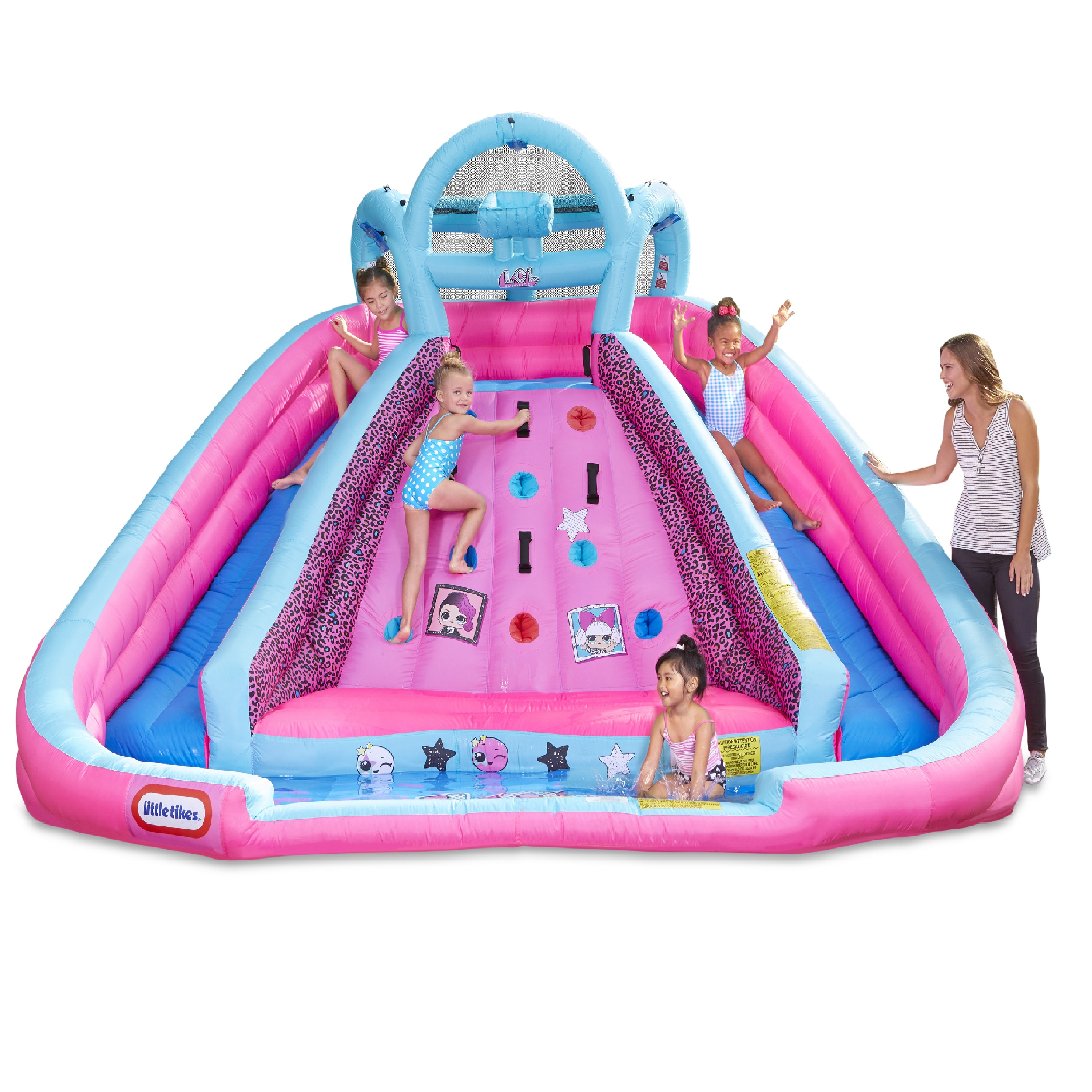 L.O.L. Surprise! Inflatable River Race Water Slide with Blower