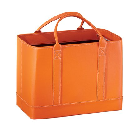 Faux Leather File Organizer Tote Bag Large