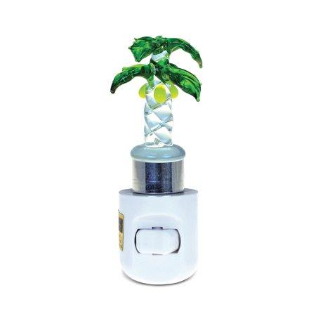 LED Glass Art Night Light Palm Tree ()