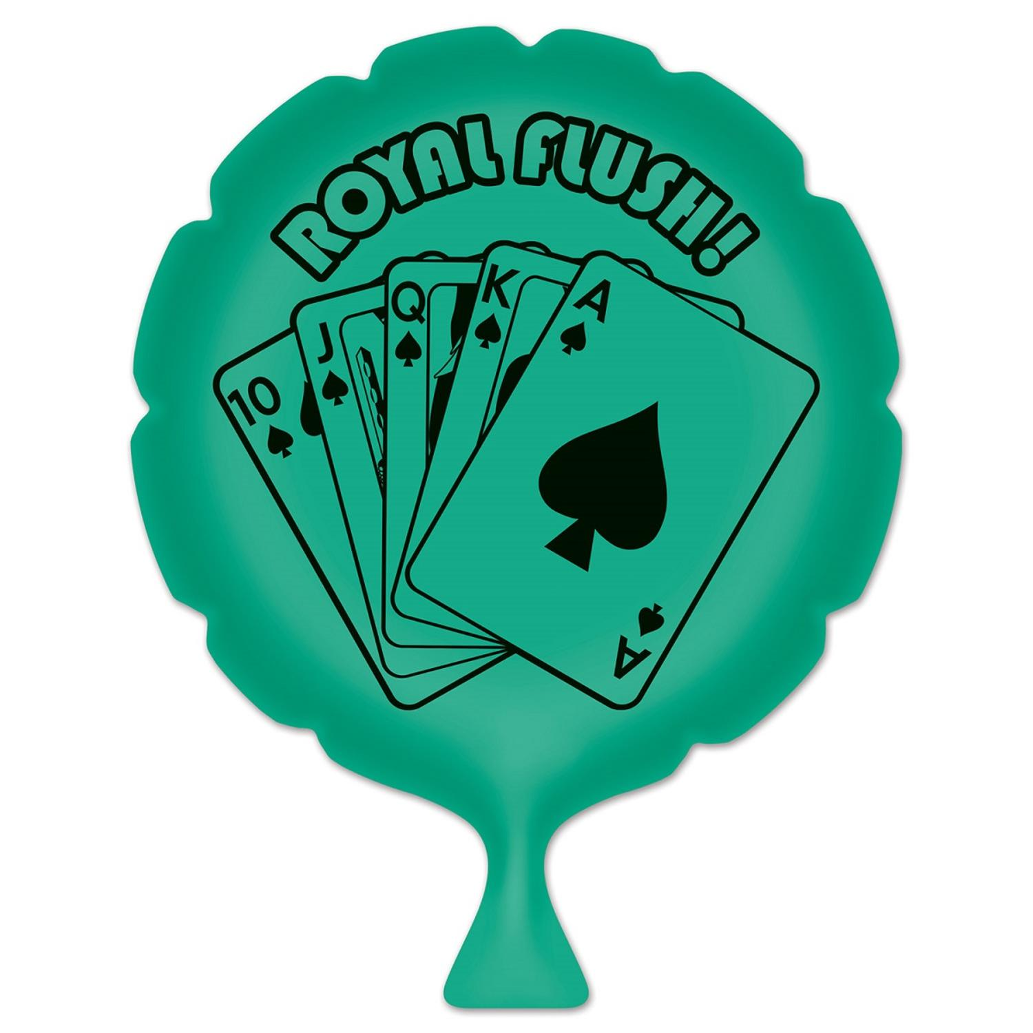 """Pack of 6 Green """"Royal Flush!"""" Whoopee Cushion Casino Night Party Favors 8"""""""