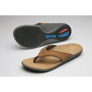 Spenco Yumi Leather - Men's Orthotic Sandals - Medium Brown