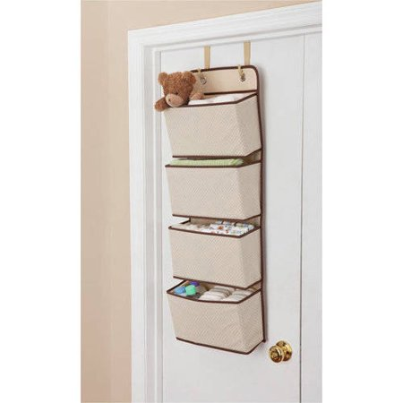 Delta Children 4-Pocket Hanging Wall Organizer, Beige