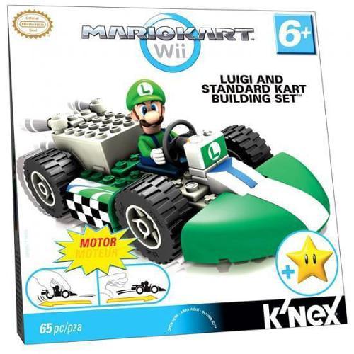 K'NEX Super Mario Mario Kart Wii Luigi & Standard Kart Set #38005