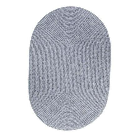 Rhody Rug S103R048X048 Solid 4' Round Wool Rug Blue Bonnet - image 1 de 1