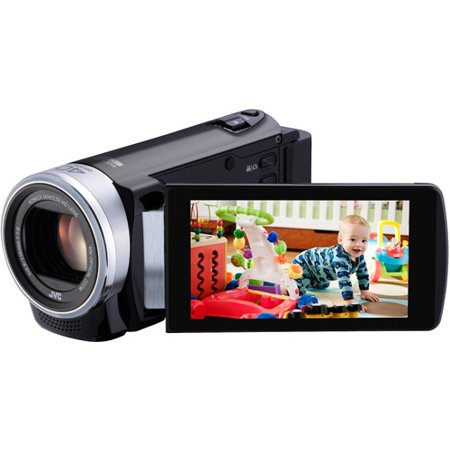 JVC GZ-E200 Black HD Flash Memory Digital Camcorder w/ 40x