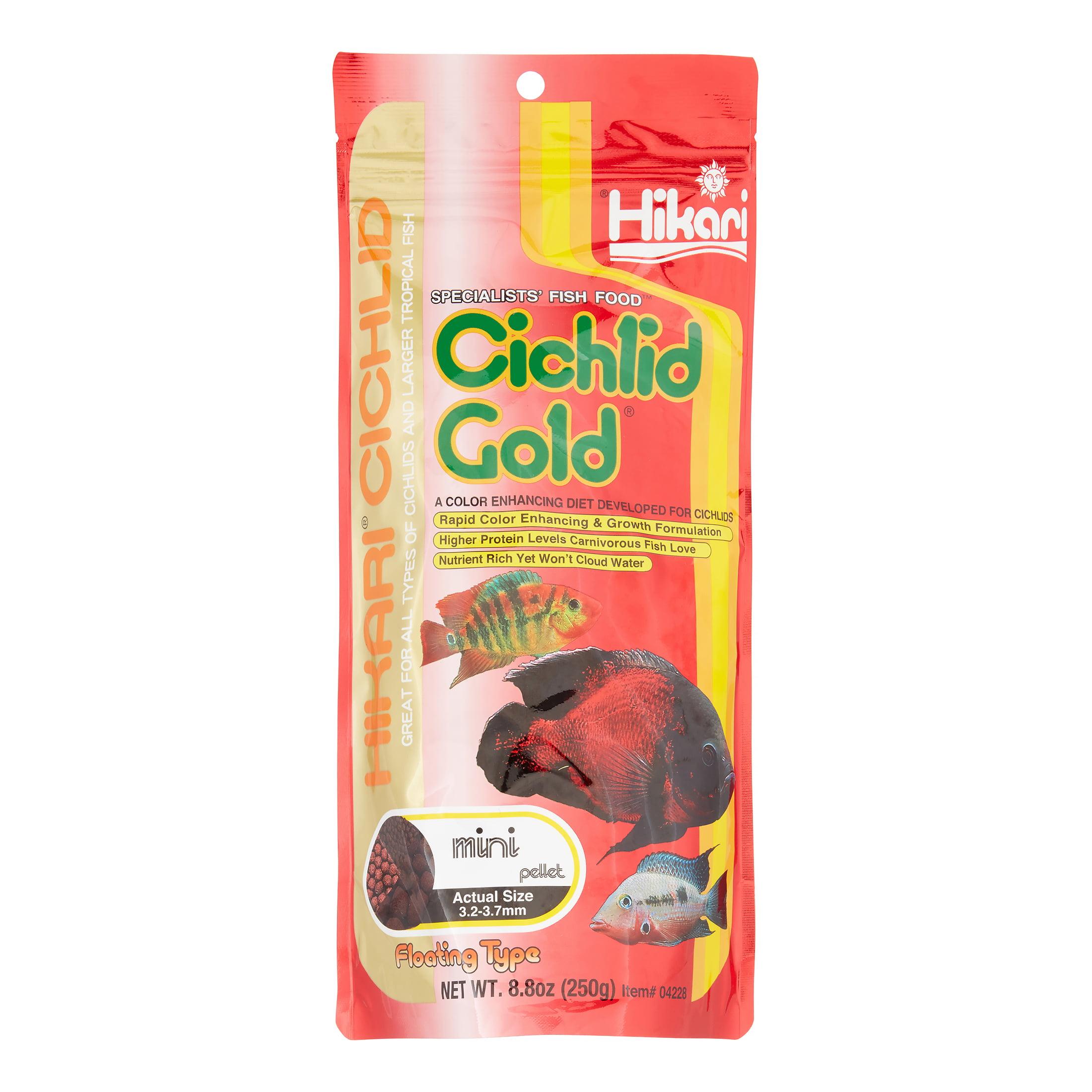 Hikari Cichlid Gold Mini Floating Pellets Freshwater Cichlid Fish Food, 8.8 Oz