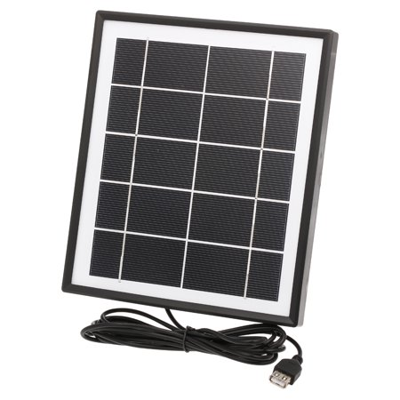 5W Solar With Cable USB Output for Mobile Phones Power Station Monocrystalline Silicon Solar Panel 3.7Vbattery (Solar Cells 6x6 Monocrystalline)