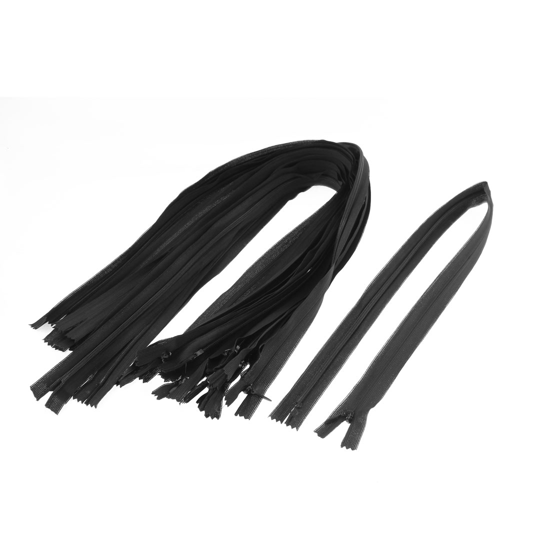 "Black Nylon Zippers Tailor Sewing Tools 24"" Long 20 Pcs"