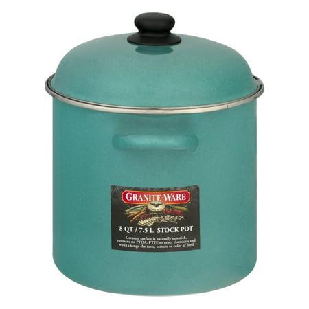 Granite-Ware Stock Pot 8 QT Green, 1.0 CT