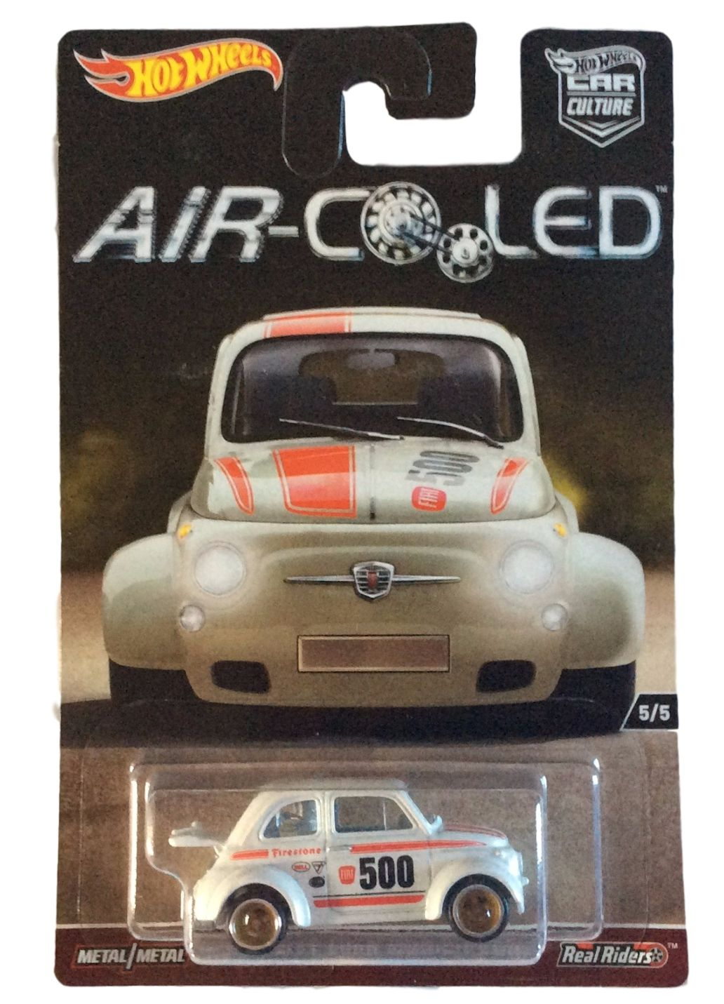 Hot Wheels 1:64 Scale Air-Cooled Car Culture 60's Fiat 500D Modificado 5 5 by Hot Wheels