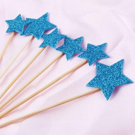 Partie ménage en forme étoile Cupcake bricolage Dentelle cure dents Picks Topper 12 en 1 - image 1 de 3