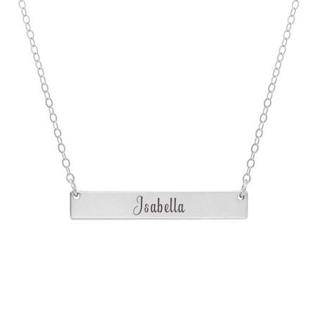 Custom Necklace For Women Name Bar Necklace Name Necklace Gift Gold Name Necklace Engraved Bar Necklace Name Bar Engraved Jewelry