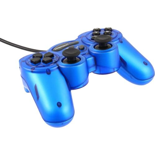 Sabrent 12-Button USB 2.0 Game Controller For PC - Blue