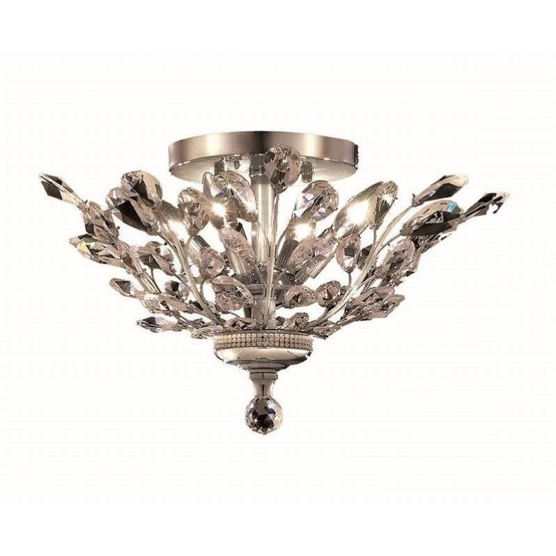 "Elegant Lighting Orchid 20"" 4 Light Royal Crystal Flush Mount"