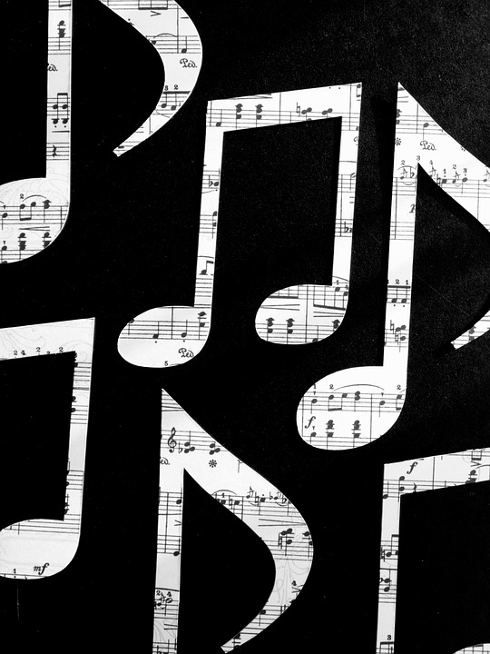 Peel n Stick Poster of Outlines Octave Sheet Music Music