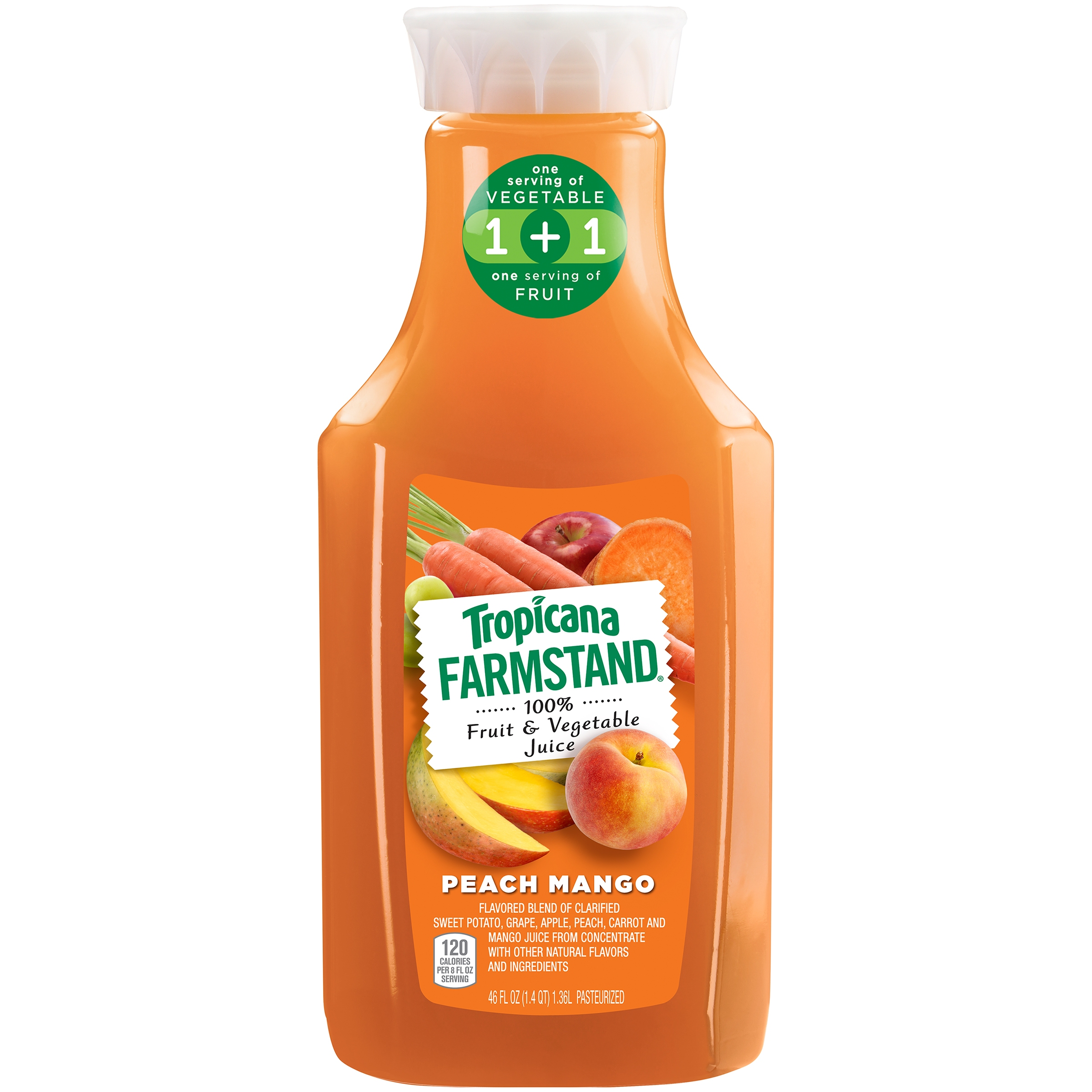 Tropicana Farmstand 100% Fruit & Vegetable Juice Peach Mango ...
