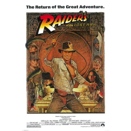 Hot Stuff Enterprise Z101-24x36-NA Indiana Jones Raiders Lost Ark Poster, 24 x 36