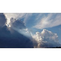 Canvas Print Air Clouds Oxygen Atmosphere Nature Earth Sky Stretched Canvas 10 x 14