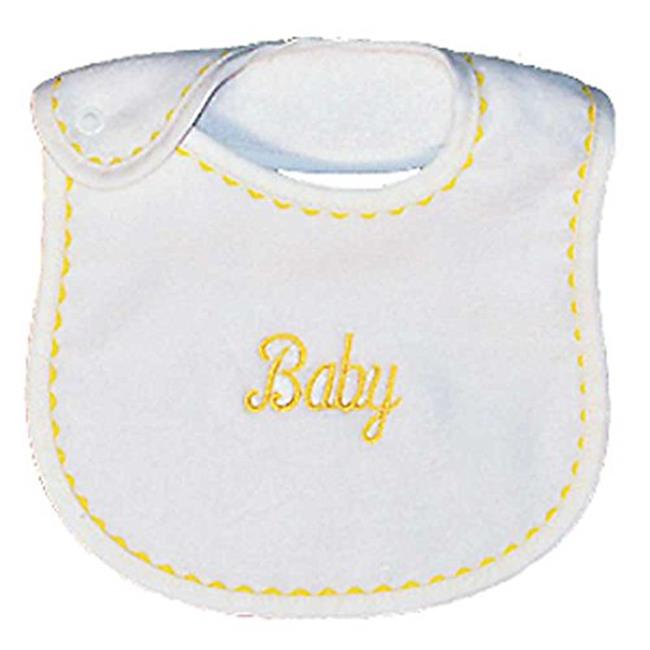 Raindrops 6200Y Raindrops -Baby- Embroidered Bib, Yellow