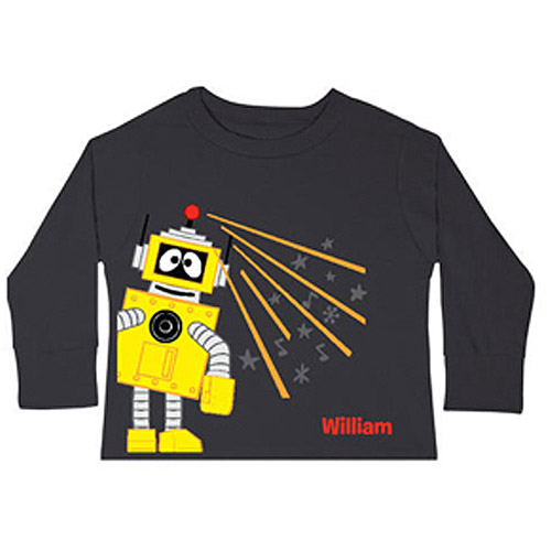 Personalized Yo Gabba Gabba! Plex Black Toddler Boys' Long-Sleeve Tee