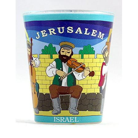 - Jerusalem Israel Folk Musicians Shot Glass