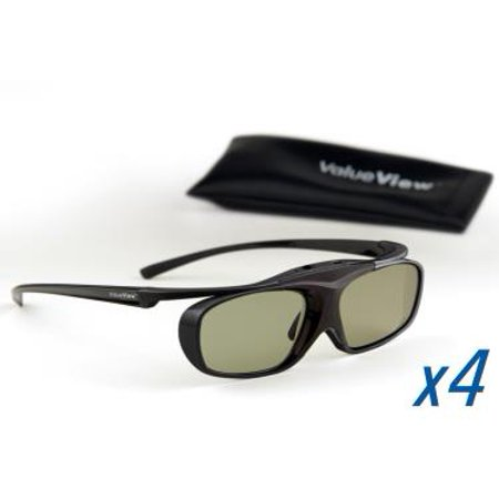 SONY-Compatible ValueView 3D Glasses. Rechargeable. MULTI-PACK