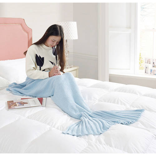 Formula Mermaid Knitted Gray Putty Blanket
