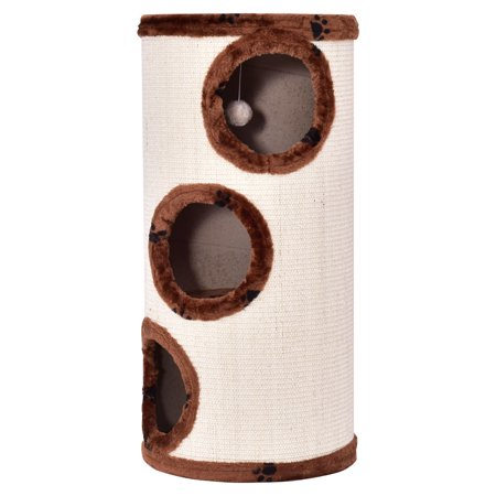 Gymax 3-story Cat Tower Kitten Cat Tree Condo Scratch 14'' x