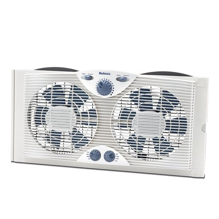 Holmes Dual Blade Window Fan with Comfort Control Thermostat