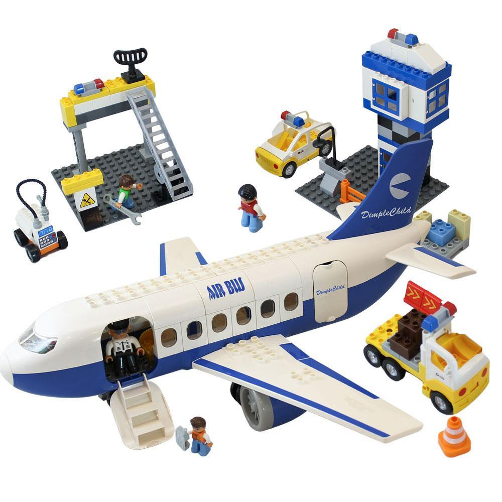 Matashi 155 Piece Mini Bricks Passenger Airplane Set with Gate and Flight Attendant Crew, Passengers and... by Dimple
