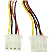 SATA Power Adapter Cable (15-Pin SATA Power Male to Dual Molex 4-Pin Female)