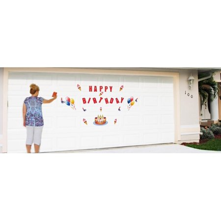 Colorful Happy Birthday Celebration Magnetic Door Decorations