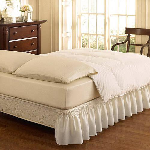 EasyFit Wrap Around Solid Ruffled Bedskirt, Grey by Ellery Homestyles Studio