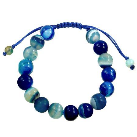 Falari Natural Gemstone Shamballa Style Bracelet