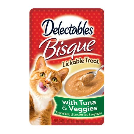 ((12 pack) Delectables Lickable Treats - Bisque Tuna & Veggies, 1.4oz)