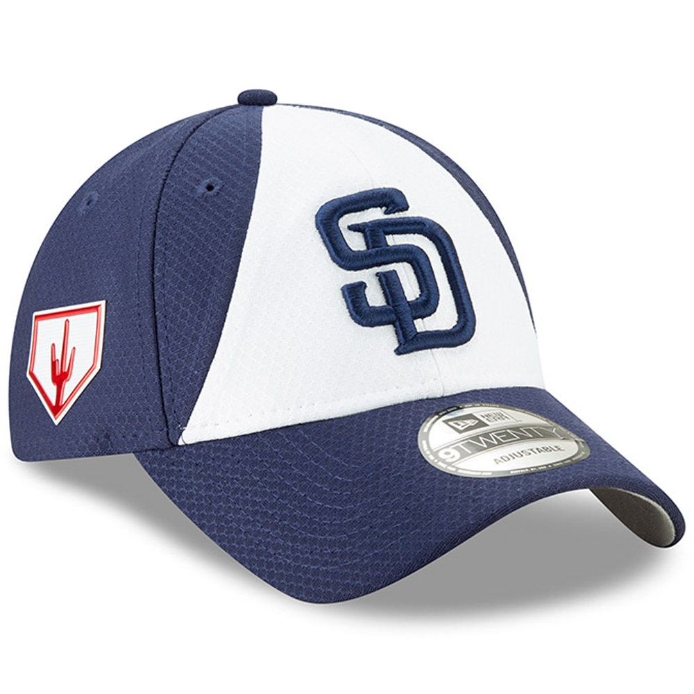 San Diego Padres New Era 2019 Spring Training 9TWENTY Adjustable Hat - White/Blue - OSFA