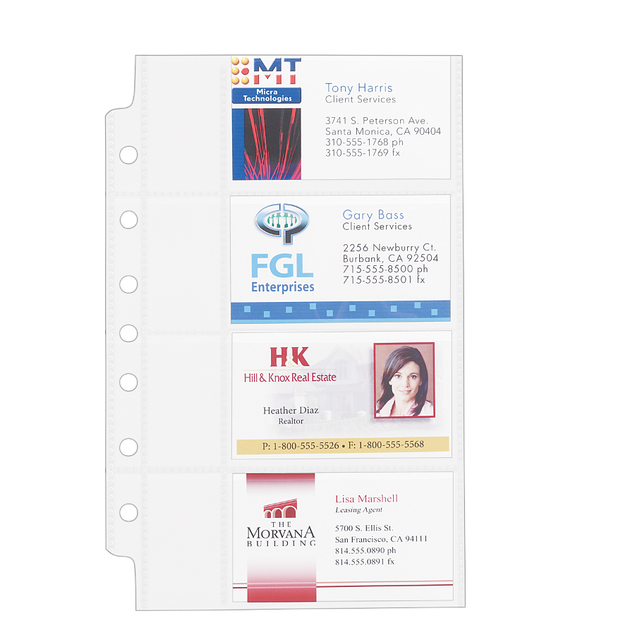 Avery business card binder pages 5pack 3 packs walmart reheart Images