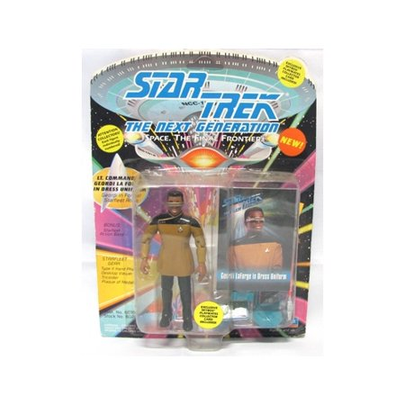 Star Trek Next Generation Uniforms (Star Trek The Next Generation Lt. Commander Geordi La Forge in Dress Uniform 4 inch Action)