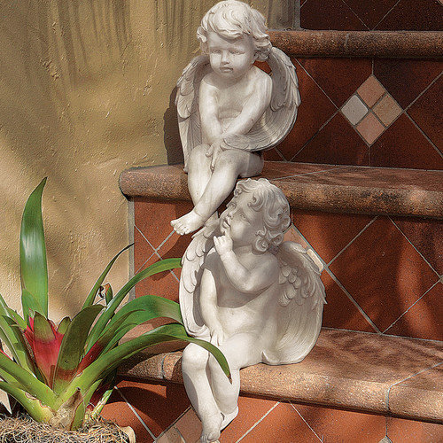 Design Toscano 2 Piece Angels of Meditation and Contemplation Figurine Set