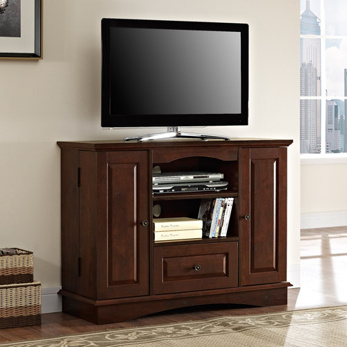"Walker Edison 42"" Black Wood Highboy TV Stand for TVs up to 48\ by Walker Edison"