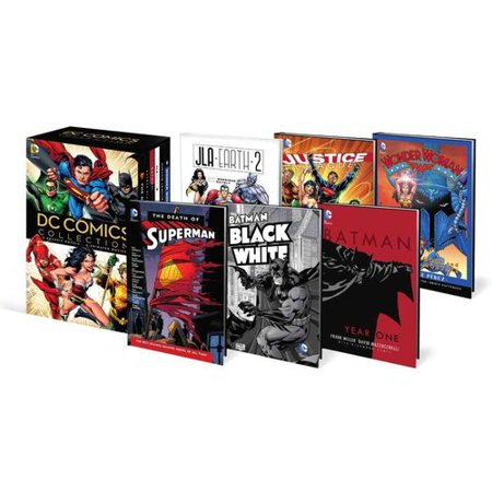 Dc Comics Set Book And Dvd Set  Wonder Woman Gods And Mortals   Justice League Origin Vol  1   Jla Earth 2   Batman   Year One   Batman Black And White Vol  1   The Death Of Superman