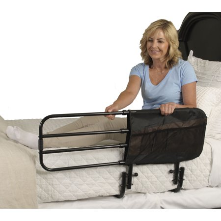 Stander EZ Adjust Home Bed Rail Length Adjustable And Folding Black