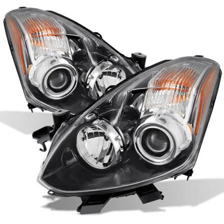 - Fits 2010 2011 2012 2013 Altima 2 Door Coupe Black Halogen Projector Headlights
