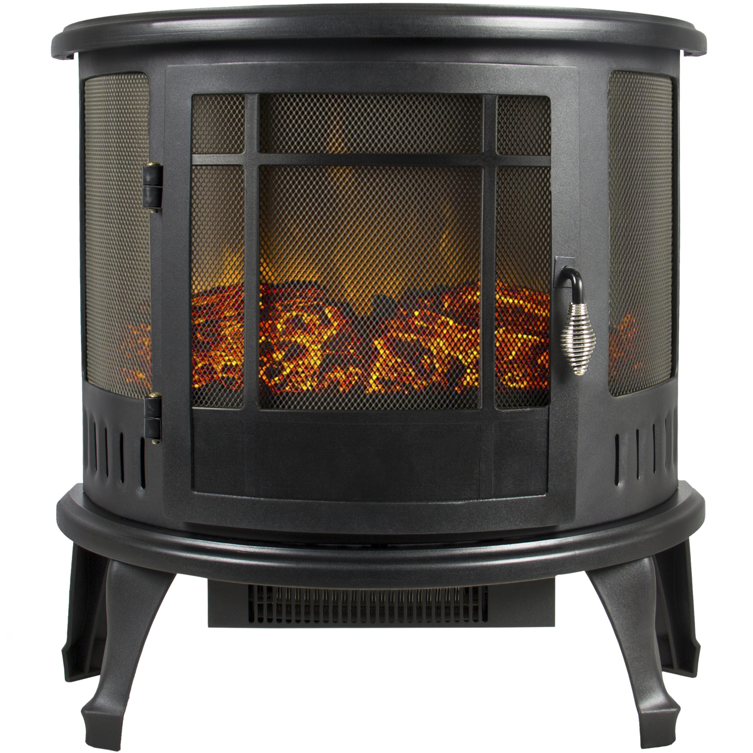 Portable Electric Fireplace Stove 1500W Space Heater Realistic Flame  Perfect Design For Corners   Walmart.com