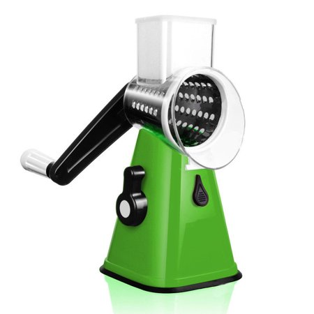 Parmesan Rotary Grater (Astar ADS-K500 Green 3 in 1 Round Chopper Mandolin Slicer Cutter Shredder Rotary Drum Grater and Slicer )