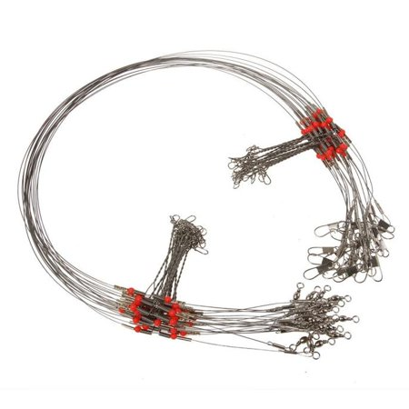Fishing Wire Leader - 10 Pcs Fishing Wire Leader Trace With Snap